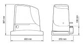 Sada pohonu pre posuvnú bránu do 1800kg/15m NICE Run RUN1800P