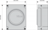 NICE Moonclever MC824H - riadiaca centrála pre 24V pohony krídlových brán rodiny Toona