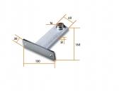 NICE PLA8 - predná konzola pohonu krídlovej brány pre priskrutkovanie
