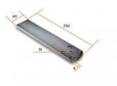 NICE PLA6 - predĺžená zadná konzola pohonu krídlovej brány pre privarenie 250mm
