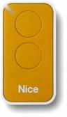 NICE Era Inti INTI2Y – dvojkanálový diaľkový ovládač pre pohony NICE žltý
