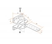 NICE PLA14 - nastaviteľná zadná konzola pohonu krídlovej brány pre priskrutkovanie