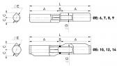 Pánt s výstupkami na privarenie a oceľovou/bronzovou podložkou