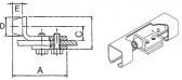 Vnútorný doraz do C-profilu závesnej brány
