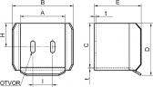 Spodný doraz C-profilu pre samonosné posuvné brány