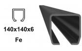 C-profil 140x140x6 mm, Fe