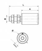 Sprevádzacia nylonová rolka valcová