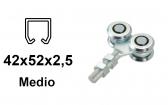 Vozík pre závesnú bránu 4 rolky s krytými ložiskami pre profil 42×52×2,5