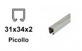 C-profil pre závesnú bránu 34×31×2,0