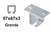 Horný úchyt pre C-profil závesnej brány 57×67×3,0