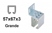 Bočný úchyt pre C-profil závesnej brány 57×67×3,0