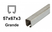C-profil pre závesnú bránu 57×67×3,0