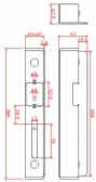 Kazeta elektrozámku - protikus zámku