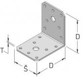 Statický uholník s otvormi bez výstuže pravidelný