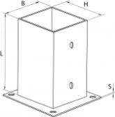 Kotviaca konzola štvorcová