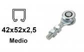 Vozík pre závesnú bránu 2 rolky s krytými ložiskami pre profil 42×52×2,5