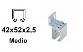 Bočný úchyt pre C-profil závesnej brány 42×52×2,5