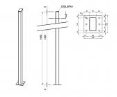 Zinkovaný stĺpik bez držiakov 50x100 s podstavou