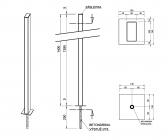 Zinkovaný stĺpik bez držiakov 50x100 s roxorom