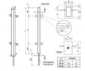 Zinkovaný stĺpik s držiakmi 50x100 s roxorom