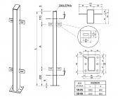 Zinkovaný stĺpik s držiakmi 50x100 s podstavou