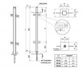 Zinkovaný stĺpik s držiakmi 40x40 s roxorom