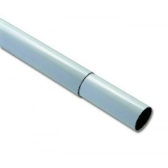 NICE WA24 - biele trubkové hliníkové teleskopické rameno do dĺžky 8,5m s protiváhou a oporou WA12