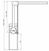NICE XBA11 - zalamovací kĺb pre ramená XBA15 pre nízke inštalácie