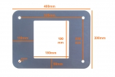 NICE XBA16 - základová platňa s kotvami pre osadenie závory M-Bar