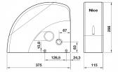 NICE Soon SO2000 - pohon sekčnej garážovej brány do výšky 5m
