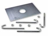 NICE SIA2 - základová platňa s kotvami pre osadenie závory SIGNO6, SIGNO6I