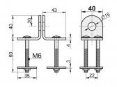 Petlica pre visiaci zámok 40 mm, KVZ-02