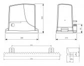 Sada pohonu pre posuvnú bránu do 1000kg/12m NICE Robus RB1000 (E)