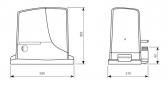 Sada pohonu pre posuvnú bránu do 1000kg/12m NICE Robus RB1000 (C)