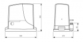 Sada pohonu pre posuvnú bránu do 1000kg/12m NICE Robus RB1000 (B)