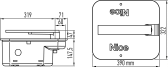 Sada podzemných pohonov NICE M-Fab ME3000 do krídla 600kg/3m