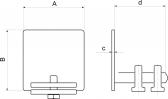 Krytka C-profilu samonosnej posuvnej brány pozinkovaná