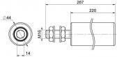 Sprevádzacia nylonová rolka valcová dlhá