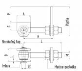 Reguľovateľný pánt na privarenie pre otváranie do 180°