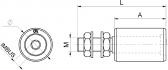 INOX Sprevádzacia nylonová rolka valcová