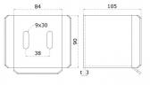 INOX Spodný doraz C-profilu 68x68x3 pre samonosné posuvné brány