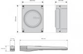 Sada pohonu NICE Toona 5024 pre jednokrídlovú bránu do 5m/500kg s fotobunkami