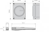 Sada pohonu NICE Toona 4 pre jednokrídlovú bránu do 3m/500kg s fotobunkami