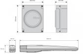 Sada pohonu NICE Toona 7 pre jednokrídlovú bránu do 7m/1700kg s fotobunkami