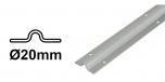 Koľajnica Ø20mm pre koľajovú bránu na skrutkovanie Zn, tvar U