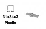 Príruba kotviaca s ložiskom pre vozíky so závitom M8