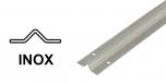 INOX Koľajnica pre koľajovú bránu na skrutkovanie, tvar V
