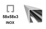 INOX C-profil 58x58x3 mm