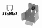 Dojazdová kapsa pre profil 58x58x3 - INOX