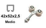 Vozík pre závesnú bránu 4 rolky s nylonovými kolieskami pre profil 42×52×2,5